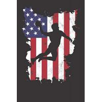 USA Notebook: Handball USA Flag 4th Of July Fourth Vintage Dot Grid 6x9 120 Pages Journal