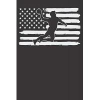 USA Notebook: Handball Player 4th Of July USA Flag Dot Grid 6x9 120 Pages Journal