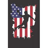 USA Notebook: Handball 4th Of July USA Flag Dot Grid 6x9 120 Pages Journal