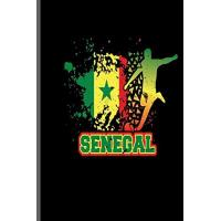 Senegal Senegal: World Cup Football Soccer notebooks gift (6x9) Lined notebook to write in