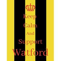 Watford Keep Calm And Support Watford: Watford Notebook/ journal/ Notepad/ Diary For Fans. Men, Boys, Women, Girls And Kids   100 Black Lined Pages   8.5 x 11 inches   A4