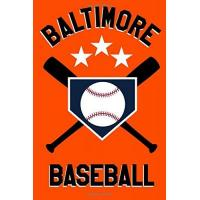 Baltimore Orioles Baltimore Baseball: Blanked Lined 100 Page 6 x 9 inch Notebook Journal for Writing and Taking Notes