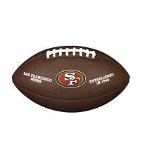 San Francisco 49ers Wilson Unisex-Adult NFL LICENSED BALL SF American Football, BROWN, Uni