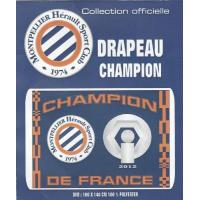 Montpellier Drapeau Champion de France - Collection officielle - MHSC MONTPELLIER Hérault - Football Ligue 1