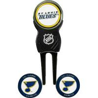 Columbus Blue Jackets Team Golf NHL Columbus Blue Jackets Divot Tool with 3 Golf Ball Markers Pack, Markers Are Removable Magnetic Double-Sided Enamel