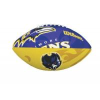 Baltimore Ravens WILSON Football mit dem Logo des NFL Junior Teams, WTF1534IDBA, Baltimore Ravens, Für Kinder