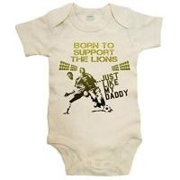 """Livingston FC Baby-Fußball-Body mit Aufschrift """"Born to Support The Lions Just Like My Daddy"""" Gr. 68, beige"""