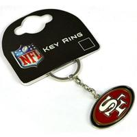 San Francisco 49ers San Francisco 49ers American Football NFL Keyring Keychain Metal Logo Official
