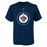 Winnipeg Jets NHL Winnipeg Jets Boys 8-20 Name and Number Tee, Navy, X-Large