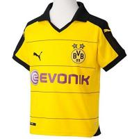 SV Mattersburg PUMA Kinder Trikot BVB Home Replica Shirt with Sponsor, Cyber Yellow/Black, XXL (Kinder), 176, 748000 01