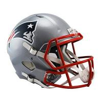 New England Patriots Riddell Originalnachbildung Full Size Replica Speed Helm, rot