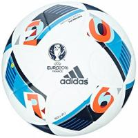 De Graafschap adidas Herren Ball EURO 2016 Top Replica X, White/Bright Blue/Night Indigo, 5