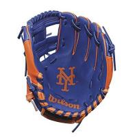 New York Mets Wilson A200 New York Mets Glove, Left Hand, 10, Royal/Orange
