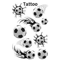 Oostende AVERY Zweckform 56740 Tattoo Kinder 9 Stück (Temporäre Tattoos Fußball, Kinder Tattoo wasserfest, Klebetattoos, Kindergeburtstag, Mitgebsel, Partyspiele Preise, Kinder zum Spielen, Tattoo Jungen)