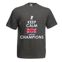 Linfield N4507 Männer T-Shirt North Irish Are The Champions ! (Medium Graphit Mehrfarben)