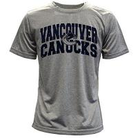 Vancouver Canucks Levelwear Kinder Vancouver Canucks Performance Arch Youth Tee Heather Pebble, YL