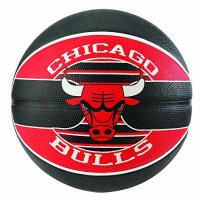 Chicago Bulls Spalding Unisex-Adult 3001587011217_7 Basketball, red,Black, 7