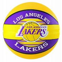 Los Angeles Lakers Spalding Unisex-Adult 3001587013215_5 Basketball, Yellow,Violet, 5