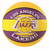Los Angeles Lakers Spalding Unisex-Adult 3001587013217_7 Basketball, Yellow,Violet, 7
