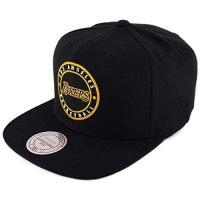 Los Angeles Lakers Mitchell & Ness Los Angeles Lakers Circle Patch Team Snapback Cap, black