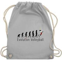 United Volleys Frankfurt Shirtracer Evolution - Volleyball Evolution - Unisize - Hellgrau - volleyball geschenke - WM110 - Turnbeutel und Stoffbeutel aus Baumwolle