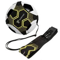GD Chaves Global Park Fußball/Volleyball/Rugby Kick Throw Trainer Solo Praxis Training Aid Control Fähigkeiten Verstellbar (schwarz)