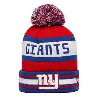 New York Giants New Era New York Giants NFL TEAM JAKE Manschette Strick Beanie-Mütze mit Bommel [ blau/rot ]