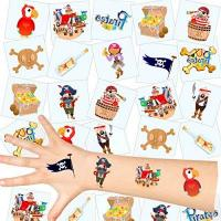 Geschenke für Destilleriemitarbeiter/in German Trendseller® - Piraten Kinder Tattoos - Set ┃ NEU ┃ Piraten Party ┃ Kindergeburtstag ┃ Mitgebsel ┃36 Tattoos