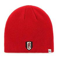 Fulham Fulham Football Club Official 47 Brand Knitted Red Beanie Hat Crest Badge