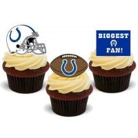 Indianapolis Colts American Football Indianapolis Colts Trio Mix- 12 essbare Kuchendekorationen