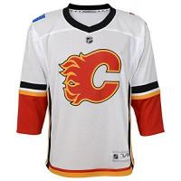 Calgary Flames NHL by Outerstuff NHL Calgary Flames Kids & Youth Boys Replica Jersey-Away, White, Kids One Size