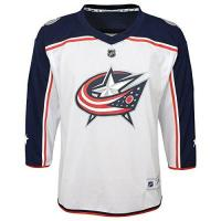 Columbus Blue Jackets NHL by Outerstuff NHL Columbus Blue Jackets Kids & Youth Boys Replica Jersey-Away, White, Kids One Size