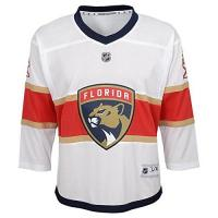 Florida Panthers NHL by Outerstuff NHL Florida Panthers Kids & Youth Boys Replica Jersey-Away, White, Kids One Size