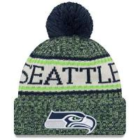 Arizona Cardinals New Era ONF18 Sport Knit Bommelmütze Seattle Seahawks Blau Grün, Size:ONE Size
