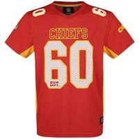 American Football Majestic Athletic Kansas City Chiefs NFL Moro Poly Mesh Jersey Tee T-Shirt Trikot