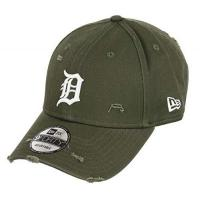 Detroit Tigers New Era Detroit Tigers 9forty Adjustable Cap Distressed Seasonal, Olive, One-size-fitts-all