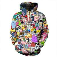 Geschenke für 13 jährigen Jungen AMOMA Jungen Digitaldruck Kapuzenpullover Tops Fashion Hoodie Pullover Hooded Sweatshirt(Medium/8-11 Jahren,Karikatur Zoo)