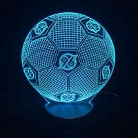 Geschenke aus Hannover FaceToWind Football Soccer Series Night Lights Colorful Color Brightness Adjustable USB and Battery-Powered Acrylic Material Home Decorations for Kids Gifts, Hannover 96