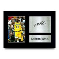 Cleveland Cavaliers HWC Trading Lebron James Los Angles Lakers, gedrucktes Autogramm für Basketball-Fans, A4