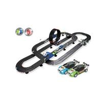 Geschenke für Schienenfahrzeug-Elektriker/in HXGL-Schienenfahrzeuge Track Racing Handy Simulation Elektrische Fernbedienung Auto Kinderspielzeug Athletic Track Stitching Game Racing Boy Geschenk - 10M Athletic Track Racing