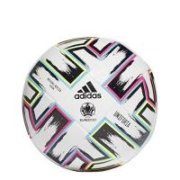 SpVgg Unterhaching adidas Men's UNIFO TRN Soccer Ball, White/Black/Signal Green/Bright Cyan, 5