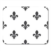 Orleans AOHOT Mauspads Lis Fleur De LYS Pattern Fills Orleans French Arms Abstract Antique Mouse pad 9.5 x 7.9 for Notebooks,Desktop Computers Accessories Mini Office Supplies Mouse Mats