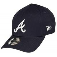 Atlanta Braves New Era Atlanta Braves 9forty Adjustable Cap MLB Rear Logo Navy/White - One-Size