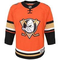 Anaheim Ducks NHL Outerstuff Anaheim Ducks Premier Youth Trikot Third Orange (Kinder), S/M (YTH)