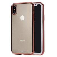 Geschenke für Galvanotechniker/in KIOKIOIPO-N Art und Weise ultradünne Galvanotechnik TPU Schutzhülle for das iPhone XS Max (Color : Rose Gold)