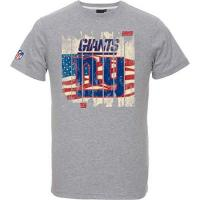 New York Giants Majestic NFL Football T-Shirt New York Giants Picilo USA Flagge (L)