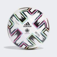 St. Truiden adidas Boys UNIFO LGE J350 Soccer Ball, White/Black/Signal Green/Bright Cyan, 5