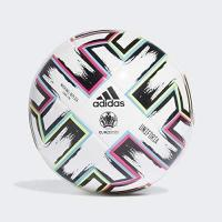 Almelo adidas Boys UNIFO LGE J290 Soccer Ball, White/Black/Signal Green/Bright Cyan, 4