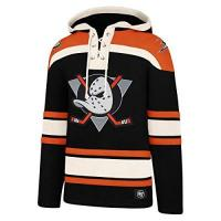 Anaheim Ducks '47Brand NHL Anaheim Mighty Ducks Lacer Logo Hoody Hooded Sweater Pullover Sweatshirt (M)