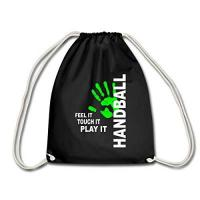 HC ERLANGEN Spreadshirt Handball Feel It Touch It Play It Handballer Spruch Turnbeutel, Schwarz